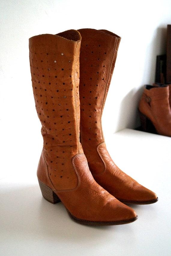 5 TAMARIS rustique girl Boho d'été 3 bottes US cuir véritable Chic 36 western en style femme marron cow Bottes Cognac UE 5 Cowboy bottes UK D29YWIEH