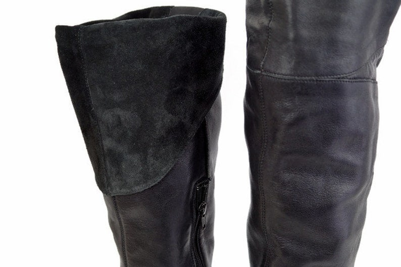 6012888583e BRONX tall boots Eu 39 Uk 6 US 85 Black Genuine leather | Etsy