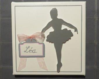 "Table-door plaque name girl dancer ""rat Opera"" decorative: birth, christening or birthday gift"