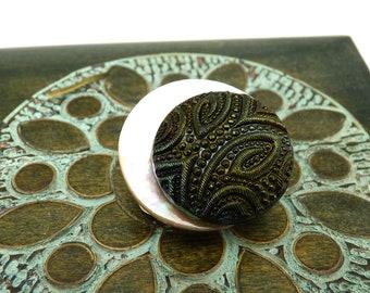 Broche aimantée broche aimant magnétique accessoire pour foulard Hijab vêtements sac et déco  en nacre et verre  MAMIKA