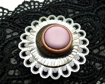 Broche aimantée broche aimant magnétique pour foulard, Hijab, vêtements, sac et déco FLORA pièce unique