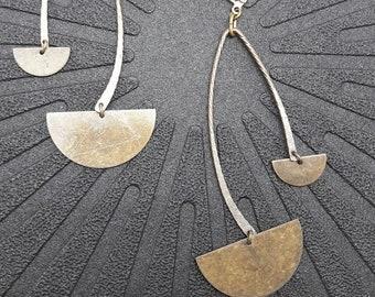 Boucles d'oreilles graphiques en métal bronze ou argent OSIRIS option Clips Best seller