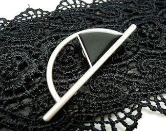 Broche aimantée porte lunette ou pour fermer un décolleté, foulard, Hijab, vêtements, sac ART DECO