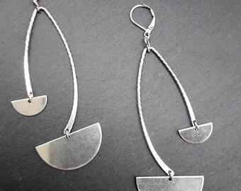 Boucles d'oreilles graphiques en métal argent OSIRIS option Clips Best seller