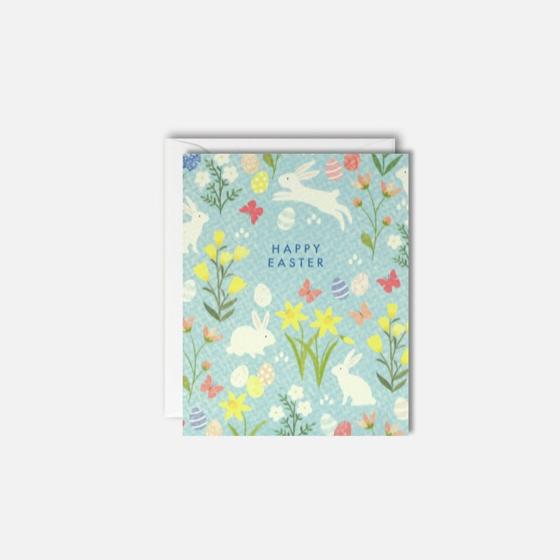 Floral Happy Easter Pack Of 5 Cards New