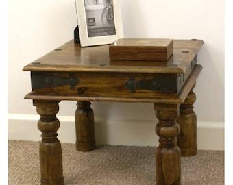 Indian jali 45x45cm lamp table