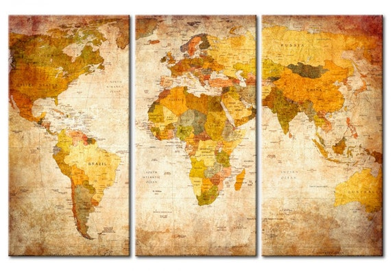 Decor wall map wall map travel world map cork board travel etsy image 0 gumiabroncs