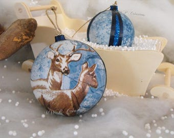 Christmas ornaments - deer Duo