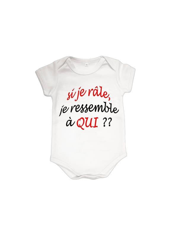 Body bébé humour personnalisé avec prénom réf 17  41d5fc1b1c9