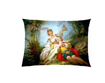 Pillow in satin reproduction painting fully customizable ref 537