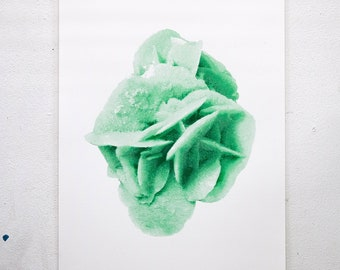 "Limited Edition Handmade Crystal ""Gypsum"" Screen Print"