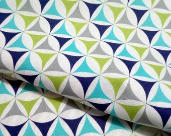 Fabric quality cotton Windham Fabrics KINETIC green white turquoise Navy lime shirt boy sleeping Bunting bag fashion creation