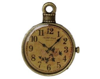 3PC Pocket Watch / Antique Bronze Pendant (B59184)