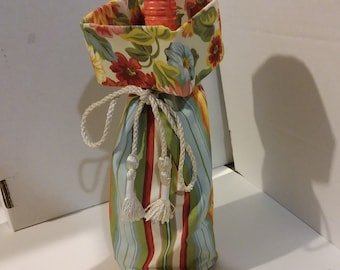 Longaberger bottle basket liner floral