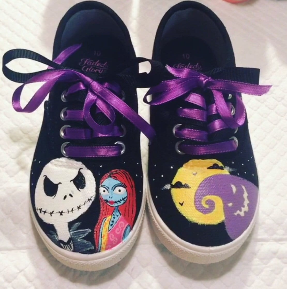 Nightmare before Christmas hand painted shoes | Etsy