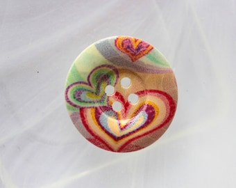 button wood hearts