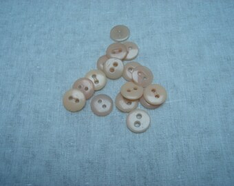set of buttons round plastic