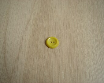 button shape round yellow Bowl with pattern