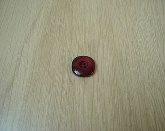 bordeaux red curved square shape button