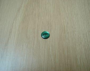 dark green cat eye buttons