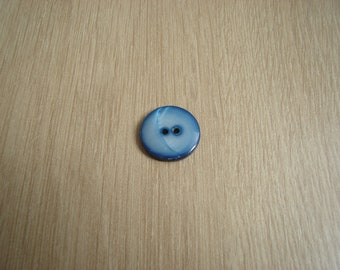 Blue button mother of Pearl two passages