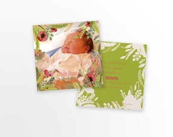 Girl birth announcement - to personalize - model victory with Photo