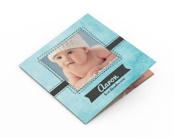 Boy birth announcement - to personalize - model Aaron