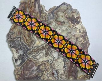 In Bloom Odd Count Peyote Bracelet Pattern Kit