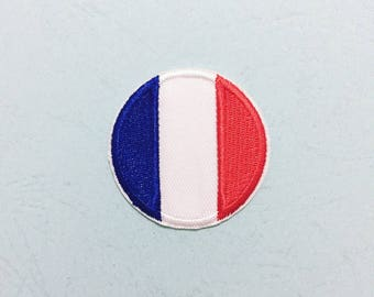 """Pin Button Badge Ø25mm 1/"""" France French FR Drapeau Flag Pays Country Paris"""
