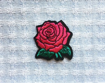 Shipped from USA Large Orange Roses Embroidered Patch Floral Iron-On or Sew-on