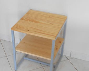 Sideboard / end table industrial/loft design grey