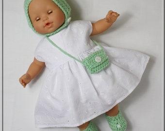 Dress, crush, bloomer, slipper, bag, for baby 36 cm, clothing, baby 36 cm
