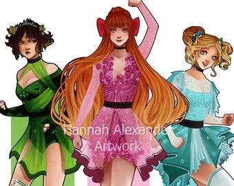 A3 Prints: Powerpuff Girls