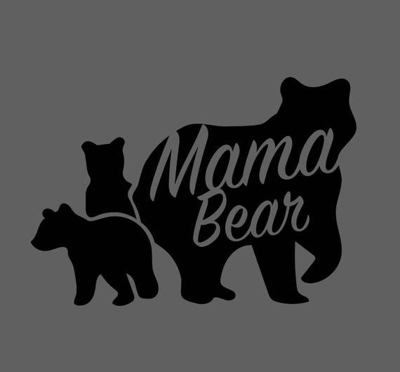 Mama Bear With Cubs Svg File For Vinyl Cutting Etsy