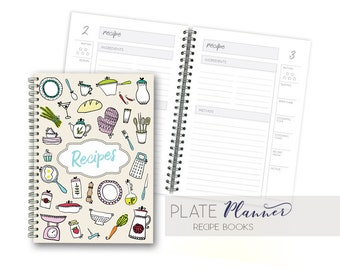 Recipe journal etsy recipe book food planner recipe recipe journal recipe notebook healthy recipe journal recipe planner meal planner forumfinder Image collections