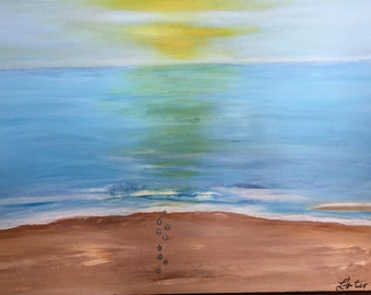"""Paradise in Vivo -  Acrylic Painting on Stretched Canvas Large 40"""" x 30"""""""