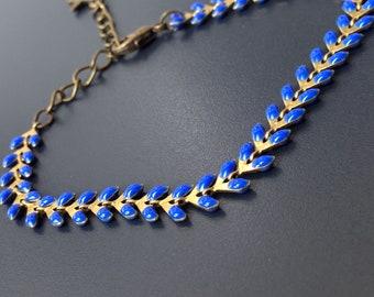 lagoon blue enameled COB less is more bracelet