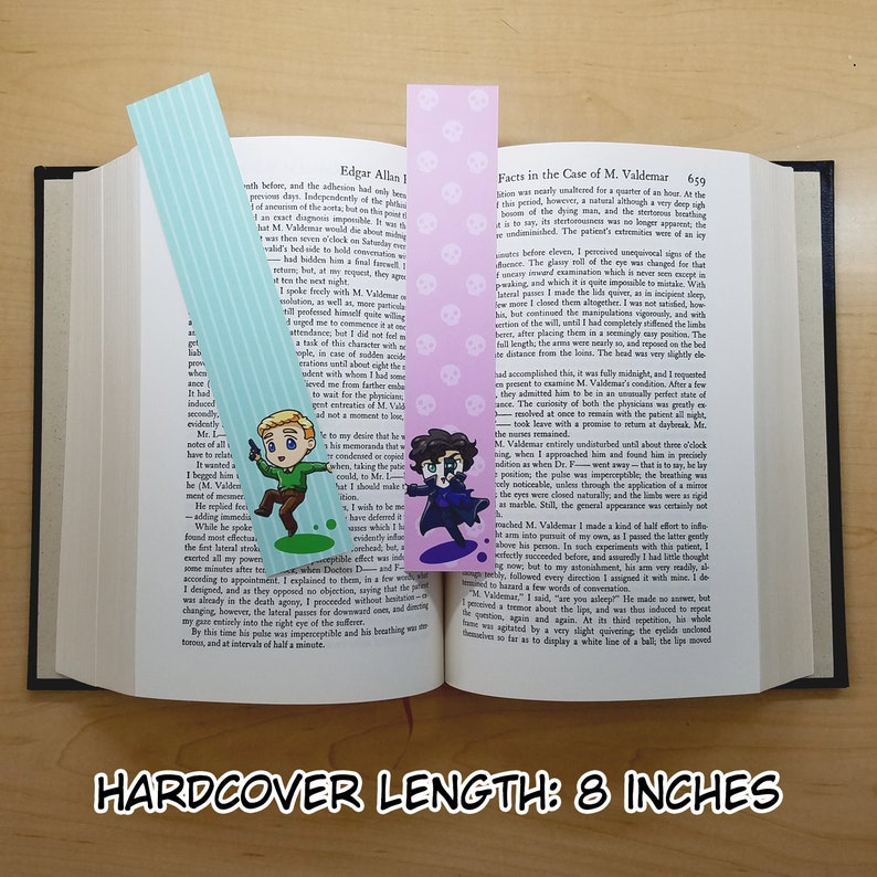 One Set of Two Bookmarks: Sherlock Holmes and John Watson