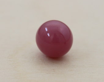 one ball a hole, 10 mm, glass filled, pink, purple