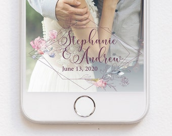 Floral Snapchat Geofilter Summer Wedding Photo Floral Filter Pastel Flowers Calligraphy Barn Wedding Filter Custom Filter Floral Geofilter