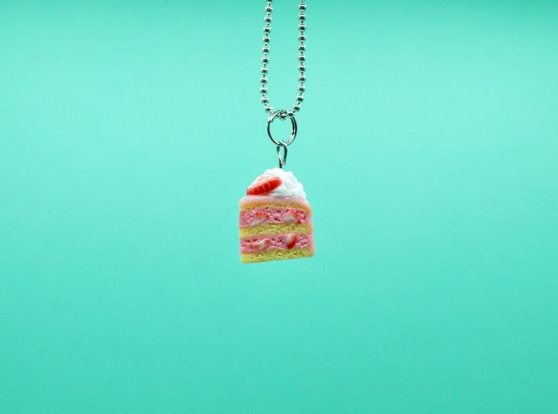Strawberry cake pendant