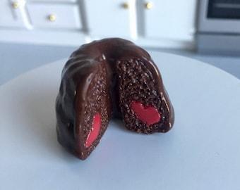 Chocolate cake with Heart