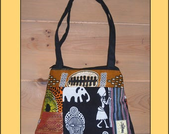 """African Patchwork"" handbag"