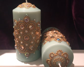 Henna Candle Pair