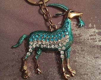 Pretty keychain or handbag charm with Rhinestones