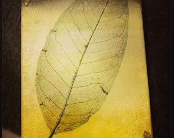Yellow Leaf Art