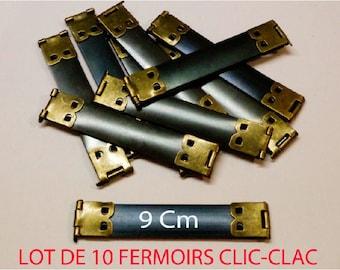 lot 2 fermoir clic clac 9 cm porte monnaie étui à lunettes sac bourse ressort