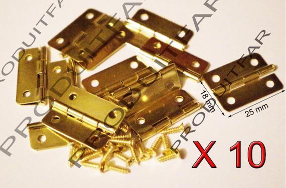 Door Hinges Jewellery Box Dolls House 42mm With Screws Brassed Multi List