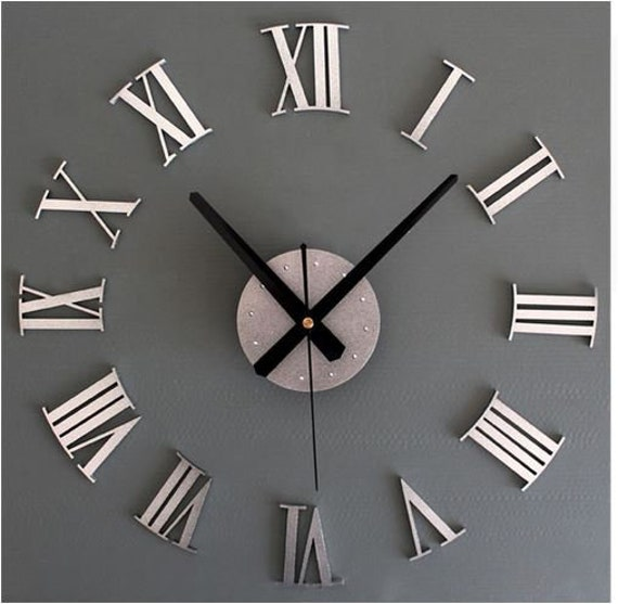 110mm Black Metal Time Set Complete with Movement of your choice