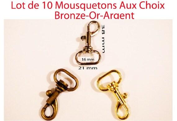 25 Mousqueton Fermetures gold 12 mm Mousqueton Chaîne Fermeture Bricolage